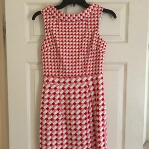 Retro Red/Pink Boden Sheath Dress